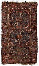Oriental rug 7'6''l, 4'2''w.