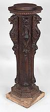 19th century ornately carved pedestal by R.J. Horn