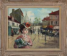 FRANCOIS GEROME (French, b. 1895), ''Place du Tert