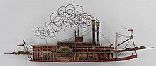 Curtis Jere polychrome metal wall sculpture as ste