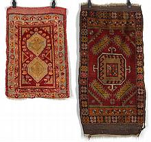 Group of (2) prayer rugs. 3'7-1/2''l, 1'11''w.