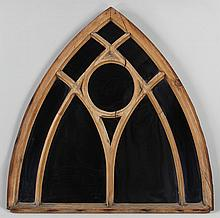 Arched wood window frame with added mirrors.  40-1