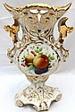 Victorian Fruit and Floral Motif Vase