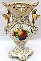 Victorian Fruit and Floral Motif Vase