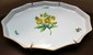 Large Herend Hungary Serving Tray with Yellow Floral Design, Hand Painted