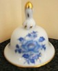Herend Hungary Blue Chinese Bouquet Bell, Trimmed in Gold