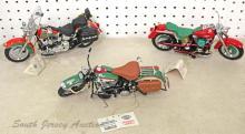 Lot of (3) Harley Davidson Franklin Mint