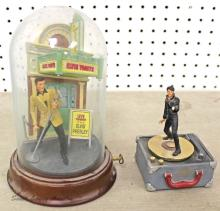 Lot of (2) Franklin Mint Elvis Music Boxes