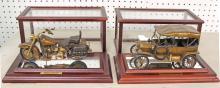 Lot of (2) Franklin Mint Models: Bronze Harley Davidson
