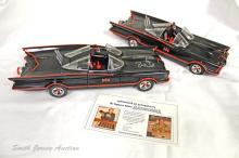 Lot of (2) Batman Batmobiles - 1 Signed by Adam West and Burt Ward with Orig. Authenticity