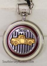Franklin Mint Collector's Choice Precision Ford Pocket Watch with Sleeve