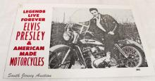 Legends Live Forever Elvis Presley and American Made Motorcycles Poster Sign
