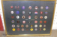Lot of (46) Car Pins Displayed in Frame
