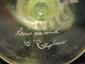 1997 Topaz opalescent fan vase #1376 artist signed