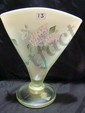 1997 Topaz opalescent fan vase #1376 artist signed