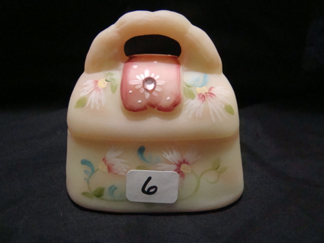 Hand painted trinket box with 3 Fenton signatures in original box