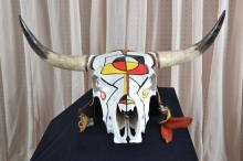 Painted Steer Head w/Horns
