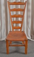 Ladder Back Birthing Chair w/Leather Seat