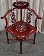 Inlaid Corner Chair