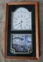 Ingraham Quartz Clock w/Fishing Theme