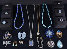 Shades of Blue Costume Jewelry