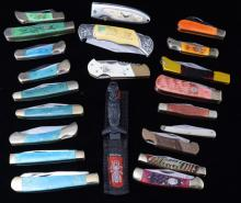 21 Assorted Loose & Boxed Pocket Knives
