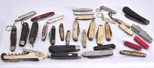 32 Varying Size Pocket Knives, Some Advertising