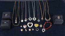 Heart Shaped Costume Estate Jewelry
