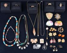 Colorful and Vintage Look Costume Estate Jewelry