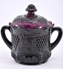 Mosser Purple Grape & Cable Biscuit Jar