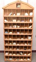Large Wooded Slotted Display for Rocks & Minerals