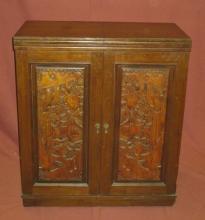 Vintage Carved Liquor Cabinet