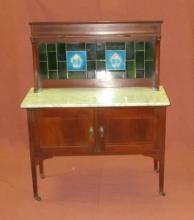 Vintage English Commode w/Tile Backsplash