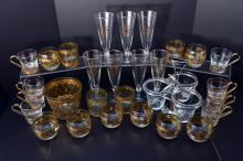 50s-70s Glasses, Ice Bucket & Condiment