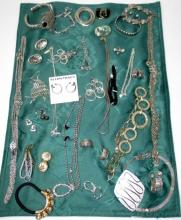 Vintage Silver Costume Jewelry