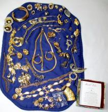 Vintage Gold Costume Jewelry