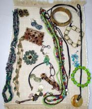 Vintage Green Plus Costume Jewelry