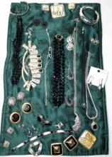 Vintage Black Costume Plus Jewelry