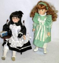 Two School Girl Dolls