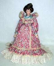 Suchart Studio Porcelain Doll in Period Dress