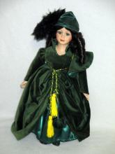 Scarlett O'Hara Porcelain Doll