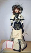 Franklin Mint Porcelain Laureen Music Box Doll