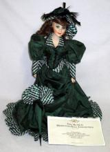 Franklin Mint Porcelain Colleen Music Box Doll