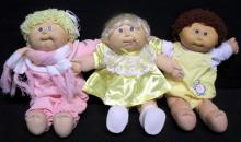 Three Cabbage Patch Dolls