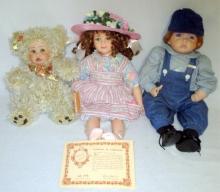 3 Porcelain Dolls Inc. Robin Woods Abby