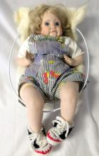 Indian Doll w/Baby Doll in Carrier