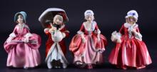 Royal Doulton 4 Lady Figurines