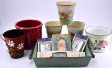 Garden Pots, Metal Tray & More