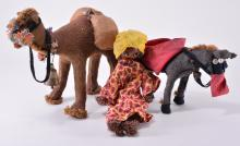 Stuffed Camel, Burro & Rope Doll