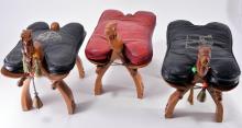 3 Iranian Camel Head Camel Saddle Stools